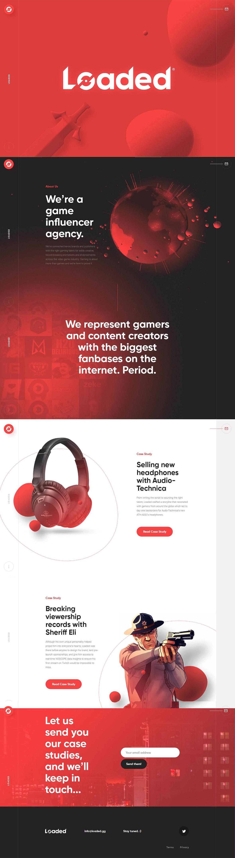 LOADED-创意,网页设计,创意设计,创意网站,网站设计,创意作品,设计作品,网站欣赏,优,ui设计,设计,设计师,优秀设计