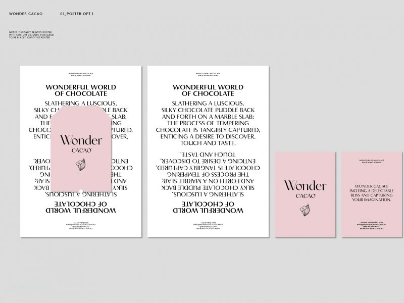 wonder cacao brand design
